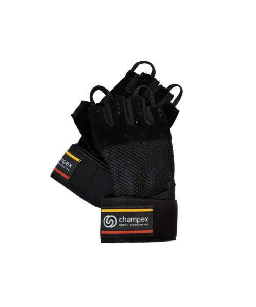دستکش بدنسازی مچ بند دار