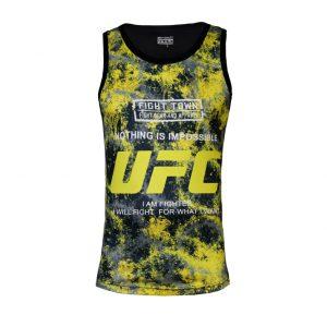 تاپ ورزشی UFC طرح آبرنگی
